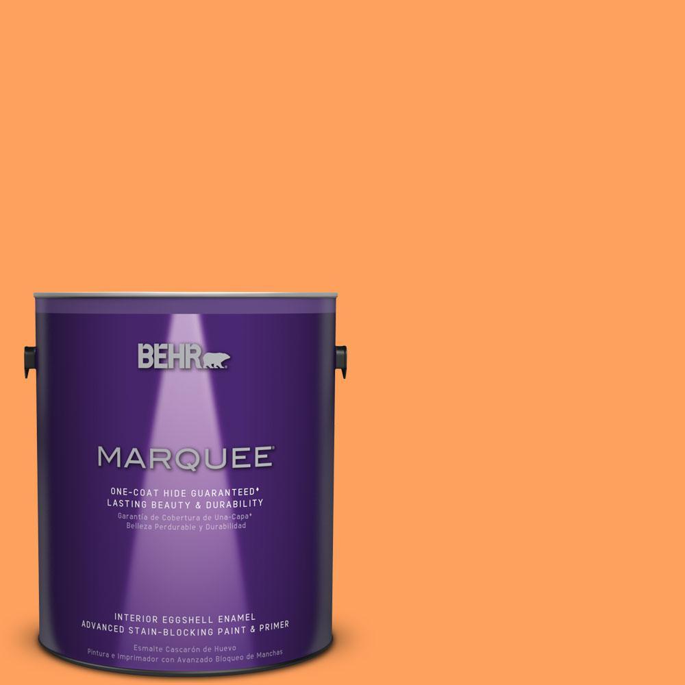 1 gal. #T15-10 Clarified Orange Eggshell Enamel Interior Paint