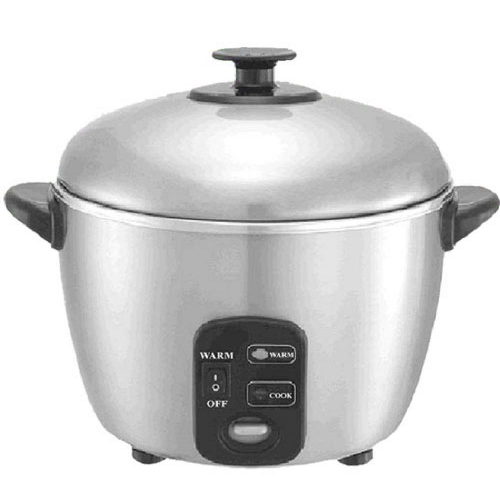 Spt 3-Cups Stainless Steel Rice Cooker/Steamer