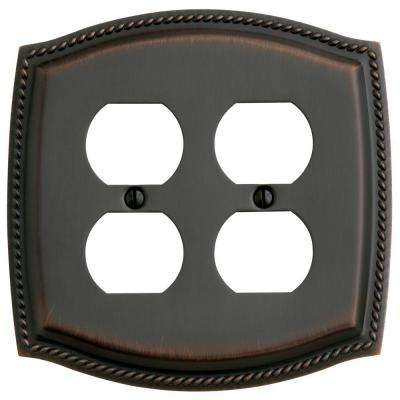 Rope 2 Outlet Wall Plate - Venetian Bronze