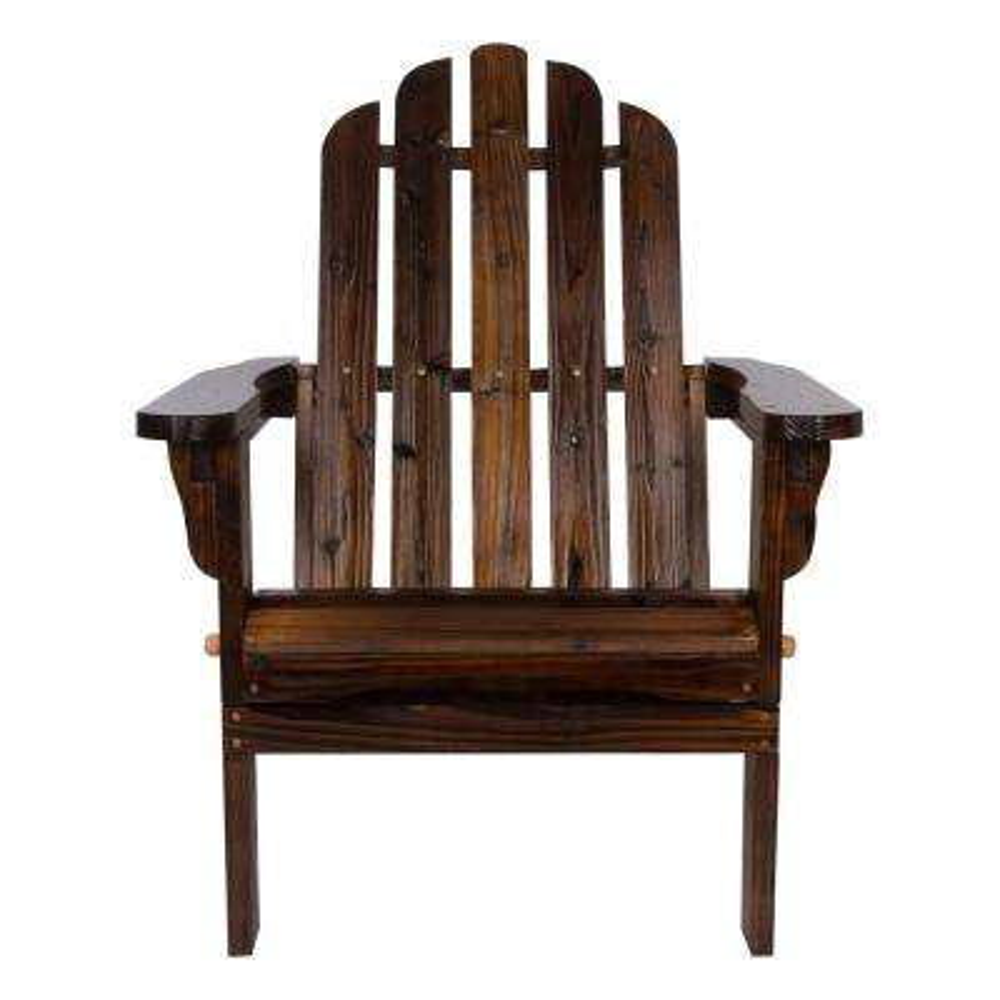Marina Folding Cedar Wood Adirondack Chair - Burnt Brown