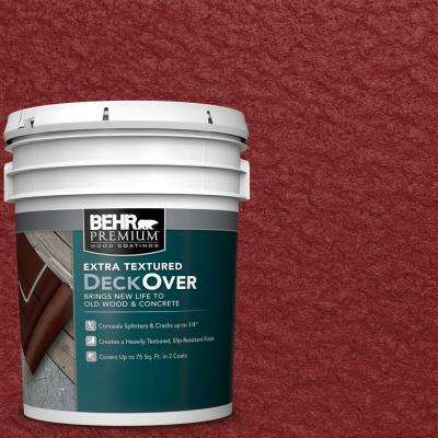 5 gal. #SC-112 Barn Red Extra Textured Solid Color Exterior Wood and Concrete Coating