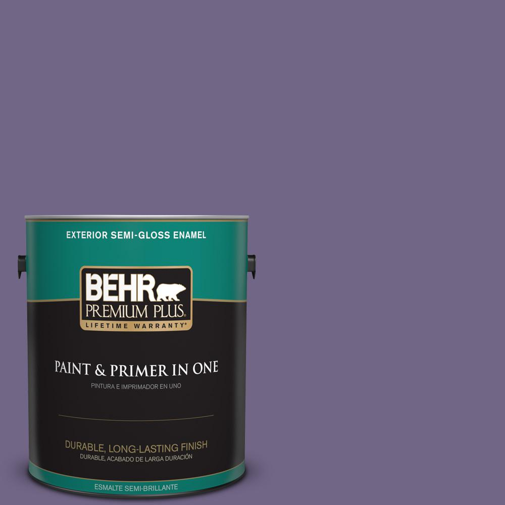 1 gal. #PPU16-18 Hyacinth Arbor Semi-Gloss Enamel Exterior Paint