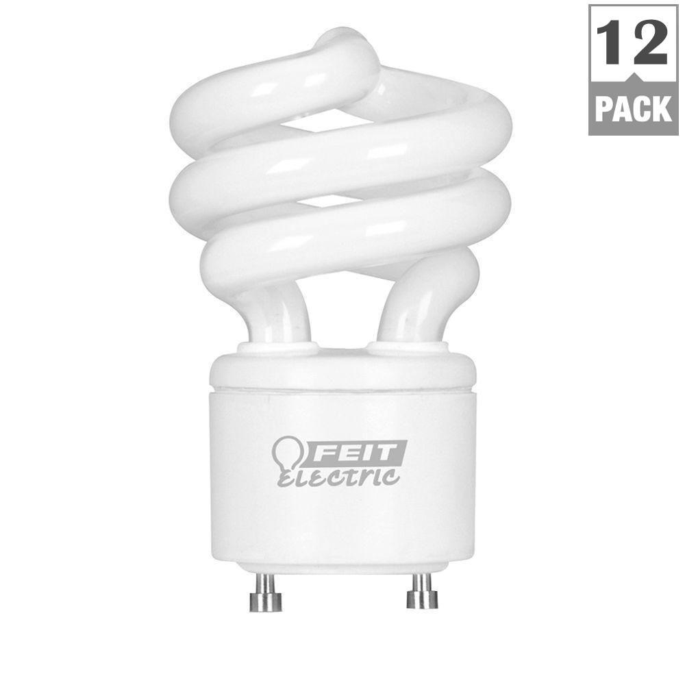 FEIT 60-Watt Equivalent Daylight (5000K) Spiral GU24 CFL ...