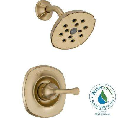 Addison 1-Handle 1-Spray Shower Faucet Trim Kit Only in Champagne Bronze Featuring H2Okinetic (Valve Not Included)