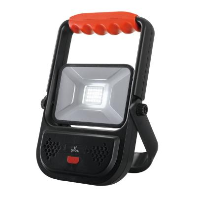 10-Watt Black 1000 Lumens Integrated LED Rechargeable Work Light