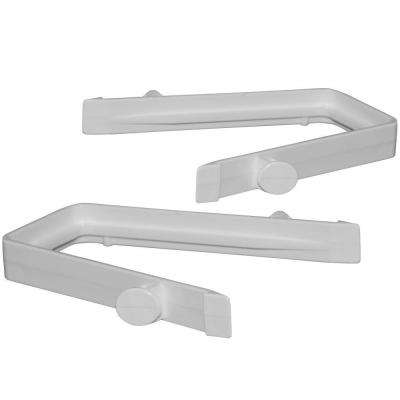 3-3/4 in. x 5 in. x 3-1/3 in. Vinyl Fence Rail Clips (2-Pack)
