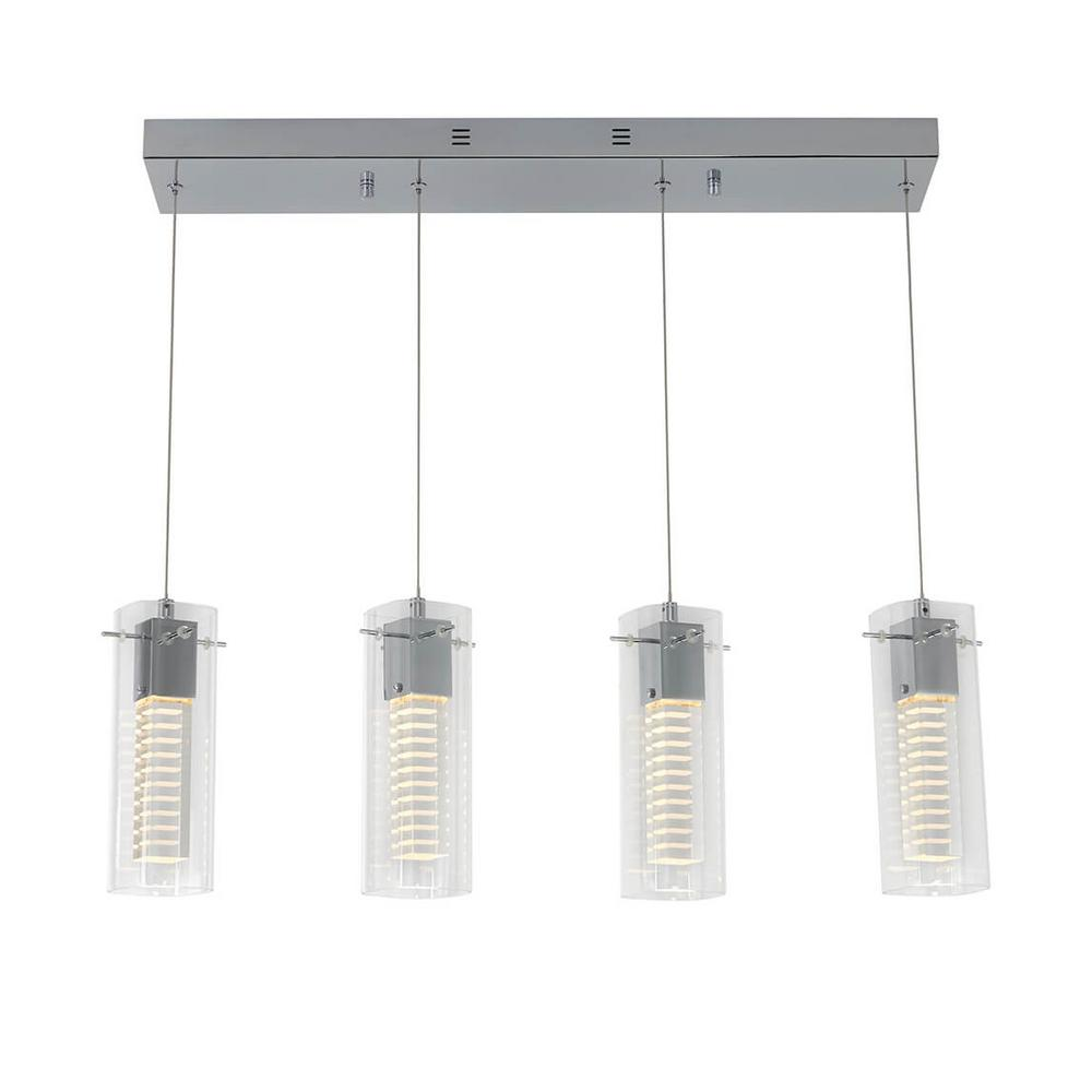 Artika Artika Hologram 21-Watt Integrated LED Chrome Pendant