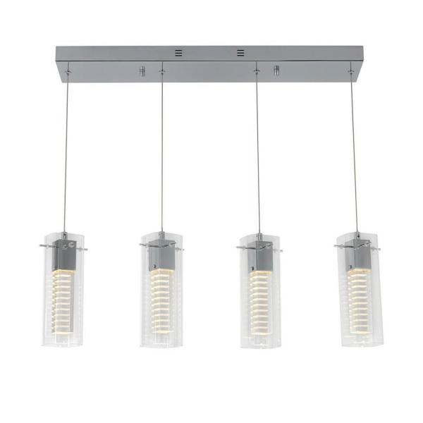 Hologram 21-Watt Integrated LED Chrome Pendant