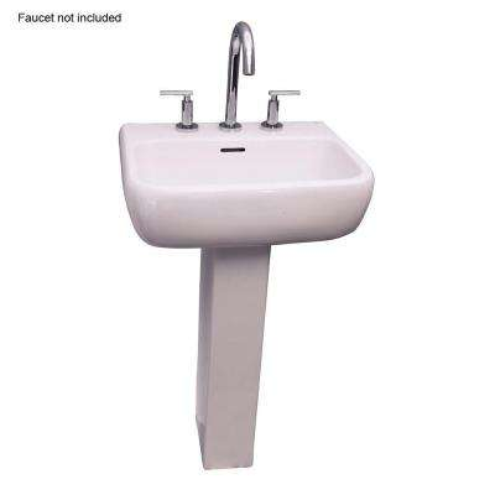 Metropolitan 520 21 in. Pedestal Combo Bathroom Sink for 8 in Widespread in White