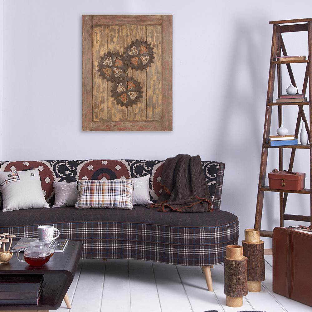 35 5 In X 27 5 In Wooden Cog Mdf Wall Art