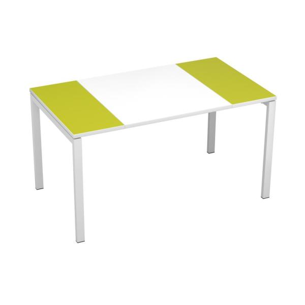 Paperflow easyDesk White Middle with Green Ends 55 in. Long Training
