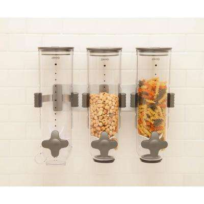 Wall-Mounted Triple Cereal Dispenser