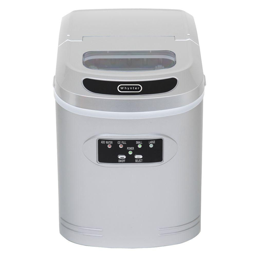Whynter 27 lb. Compact Portable Ice Maker in Silver