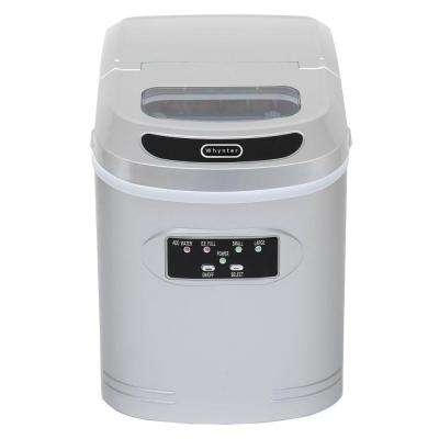 27 lb. Compact Portable Ice Maker in Silver
