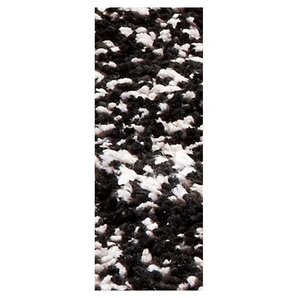 Cozy Shag Black/Silver 2 ft. 3 in. x 7 ft. 6 in. Rug Runner