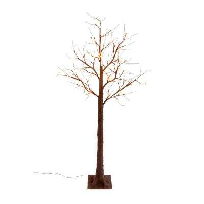 Trees and plants outdoor halloween decorations halloween h electric led orange lighted bare brown tree aloadofball Gallery