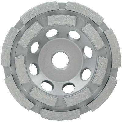 4 in. Double Row Diamond Segmented Grinding Cup Wheel with 5/8 in. -11 Nut