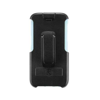 Samsung Galaxy S7 Edge Rugged Case with Belt Clip Kickstand Media Stand Heavy Duty Durable Protection, Aqua Blue
