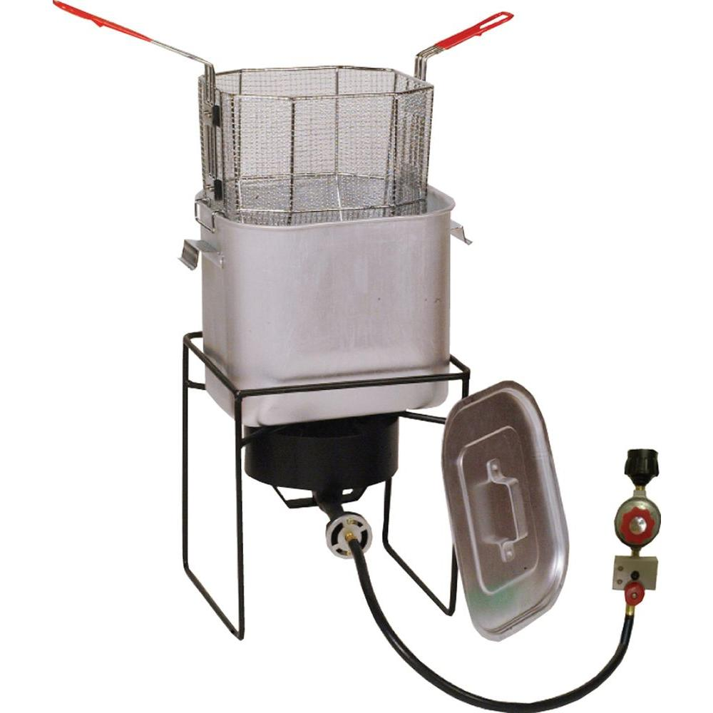 33,000 BTU Cast Burner Welded Propane Gas Outdoor Cooker with Oil