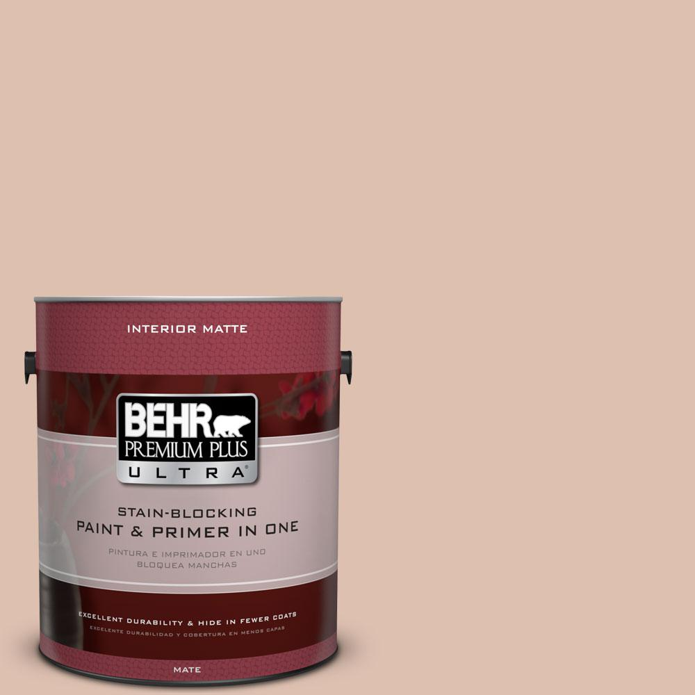 BEHR Premium Plus Ultra 1 gal. #S200-2 Cinnamon Tea Matte Interior Paint
