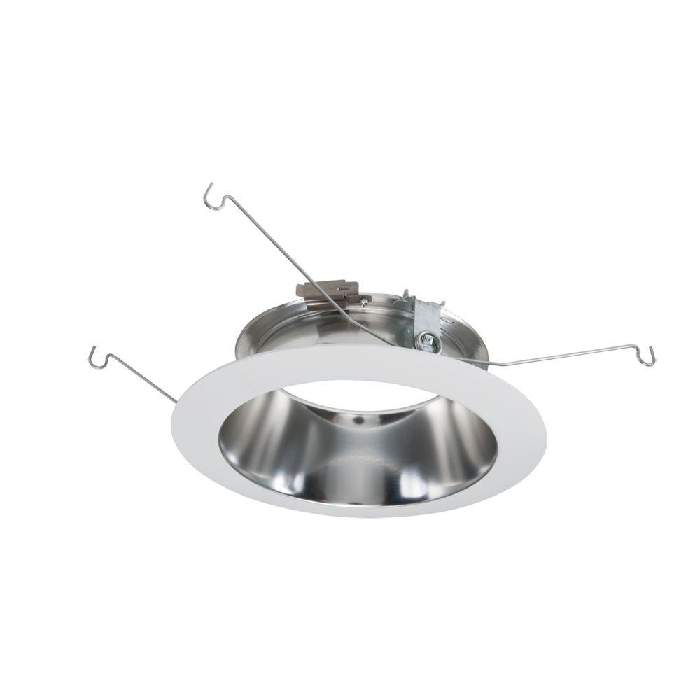 Halo ml 5 in metal clear led recessed ceiling light specular metal clear led recessed ceiling light specular reflector and white flange arubaitofo Image collections