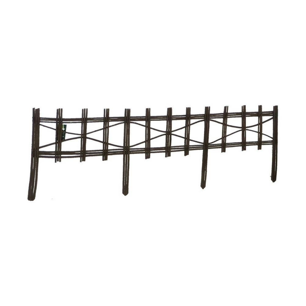 MGP 4 ft. Picket Fence Style Willow Edging