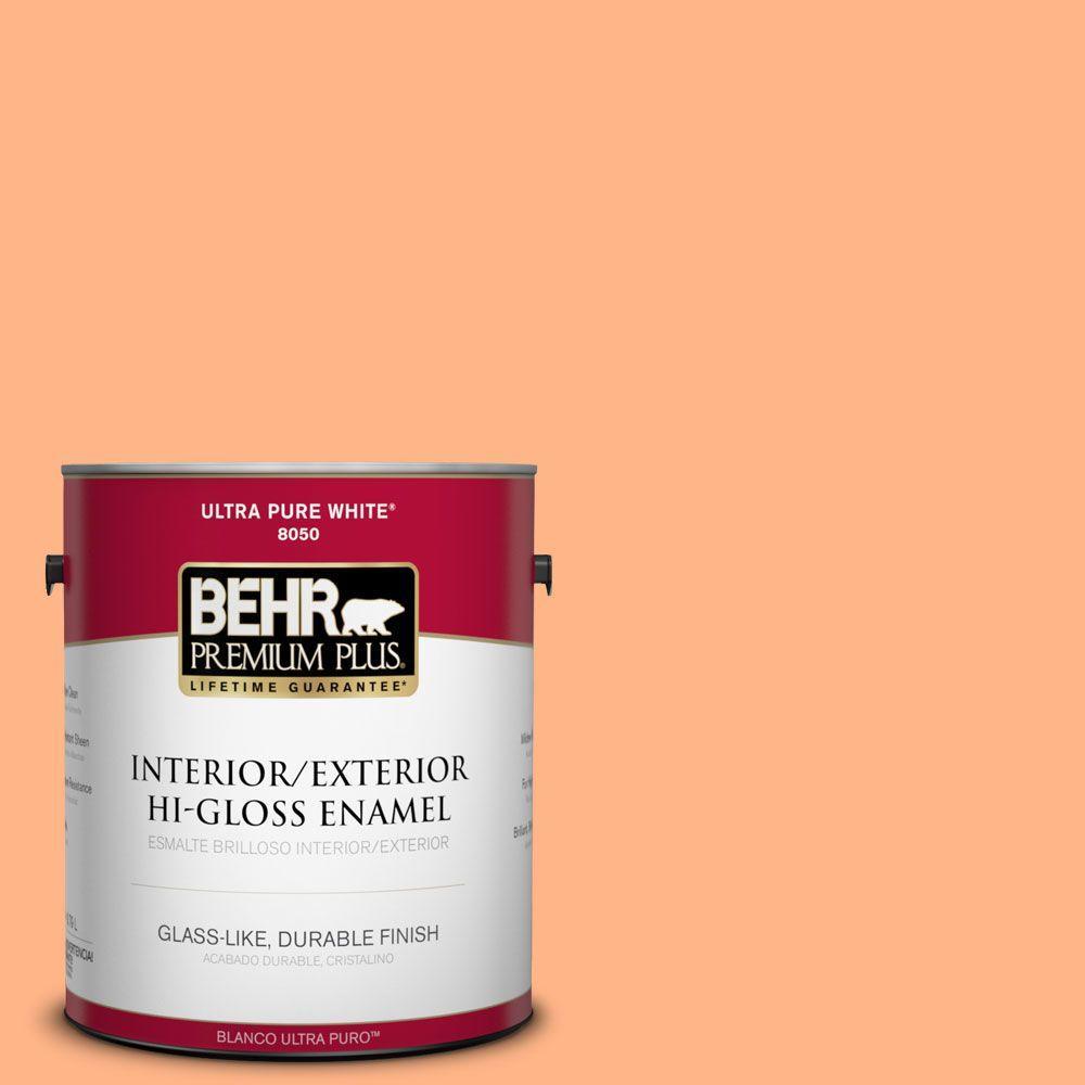 BEHR Premium Plus 1-gal. #P210-4 Lollipop Hi-Gloss Enamel Interior/Exterior Paint