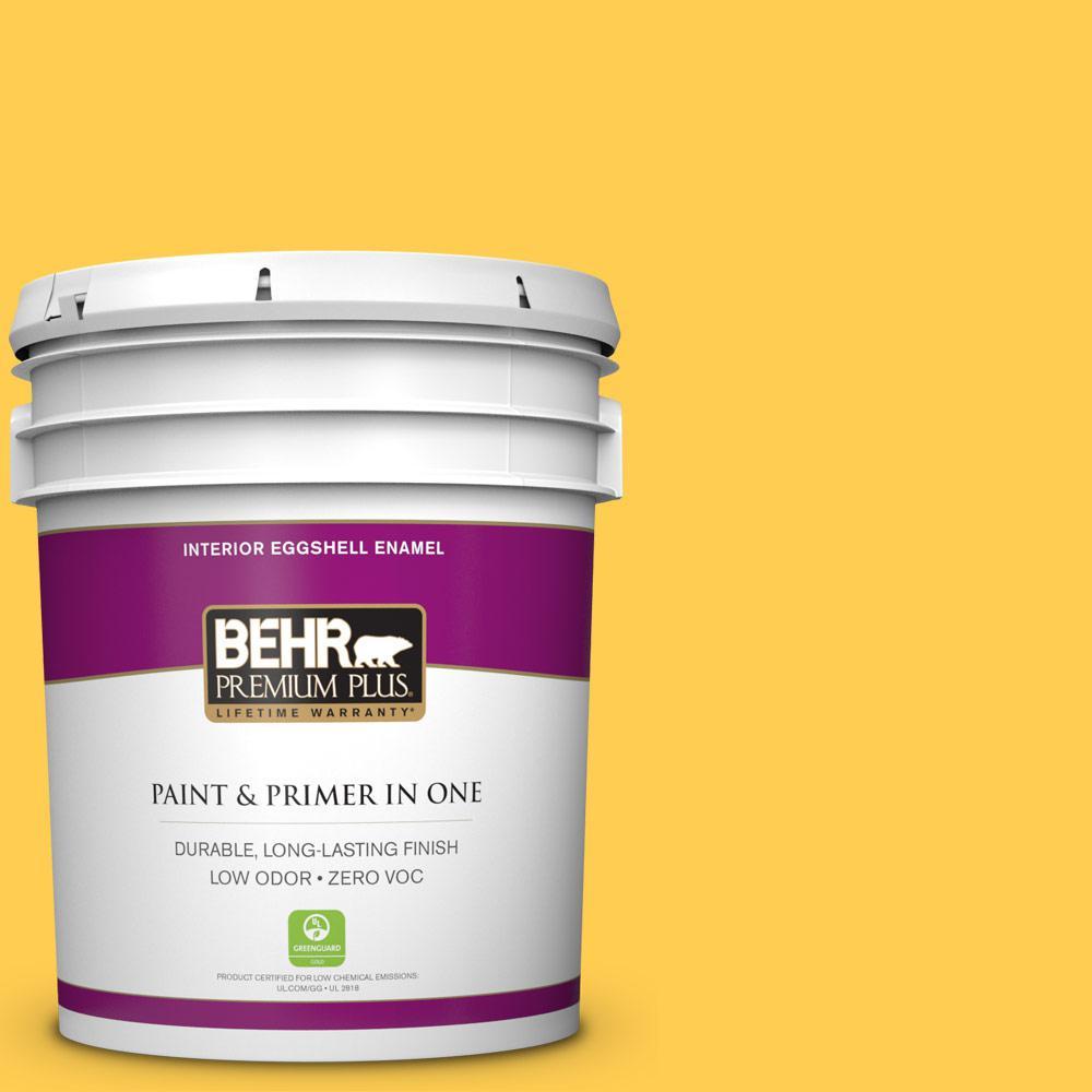 5 gal. #330B-6 Lemon Sorbet Zero VOC Eggshell Enamel Interior Paint