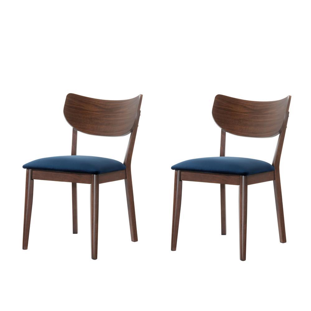 Rosie Light Walnut Side Chair Set