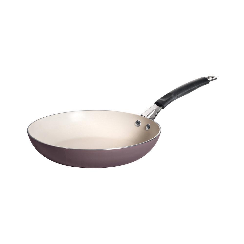 Style Simple Cooking 10 in. Aluminum Ceramic Nonstick Frying Pan in Plum