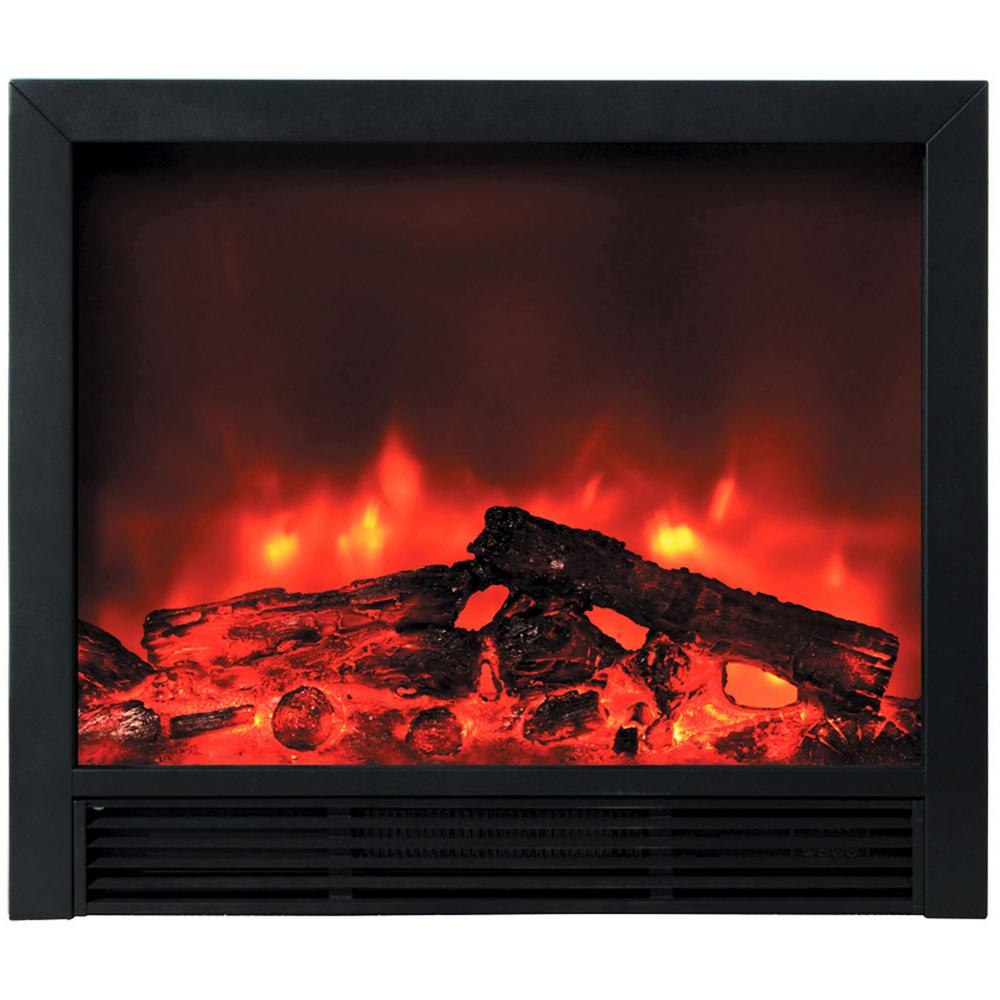 Blaze 33 in. Recessed Electric Fireplace in Black