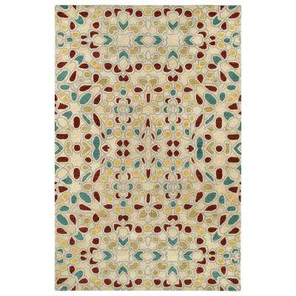 Art Tiles Beige 10 ft. x 13 ft. Area Rug