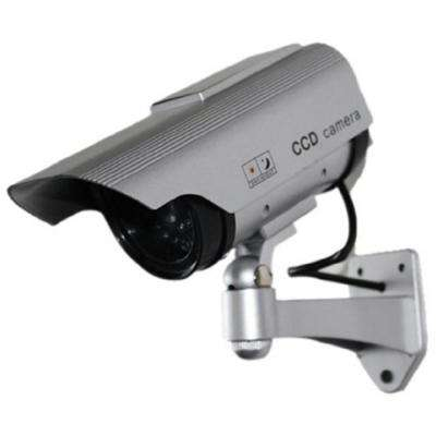Solar Indoor/Outdoor Dummy Security Camera with LED (2-Pack)