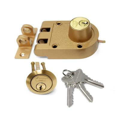 Bronze Laquer Double Cylinder Jimmy Proof Die Cast Deadbolt Lock with Flat Strike and 3 SC1 Keys