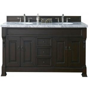 James Martin Signature Vanities Brookfield 72 inch W Double Vanity in Burnished Mahogany with Marble Vanity Top in... by James Martin Signature Vanities