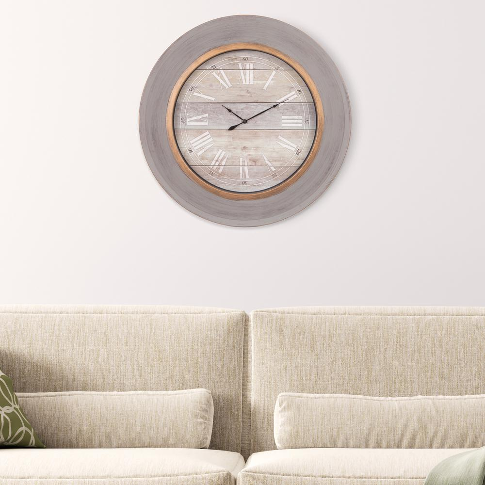 Distressed Modern Slope Blue Wall Clock