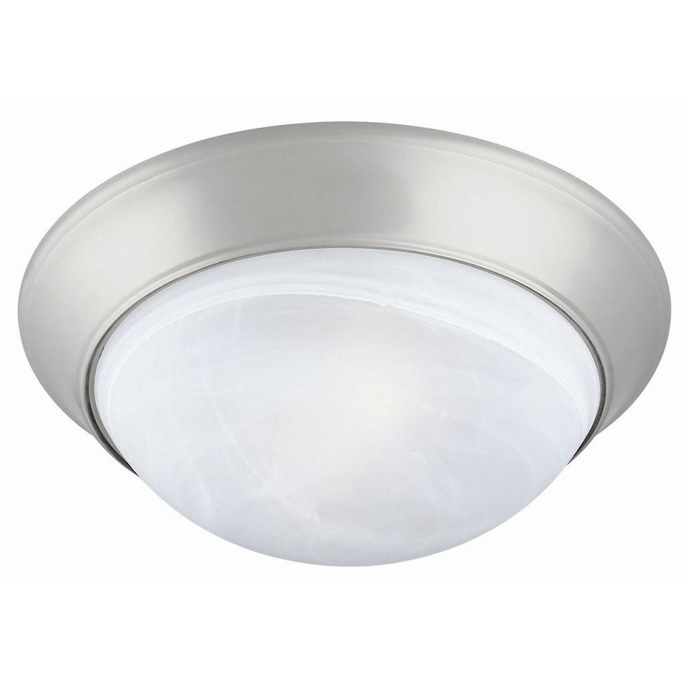 Twist off 2 light satin nickel ceiling light