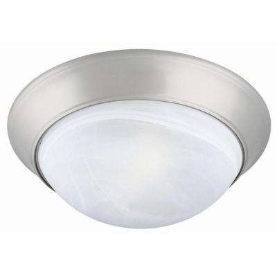 Twist Off 2-Light Satin Nickel Ceiling Light