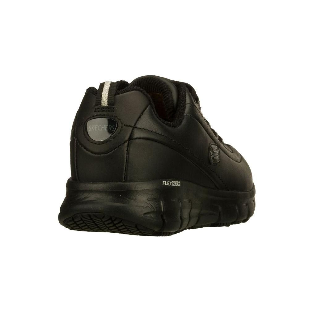 Skechers Women's Sure Track Trickel Slip Resistant Athletic Shoes Soft Toe Black Size 8(M)