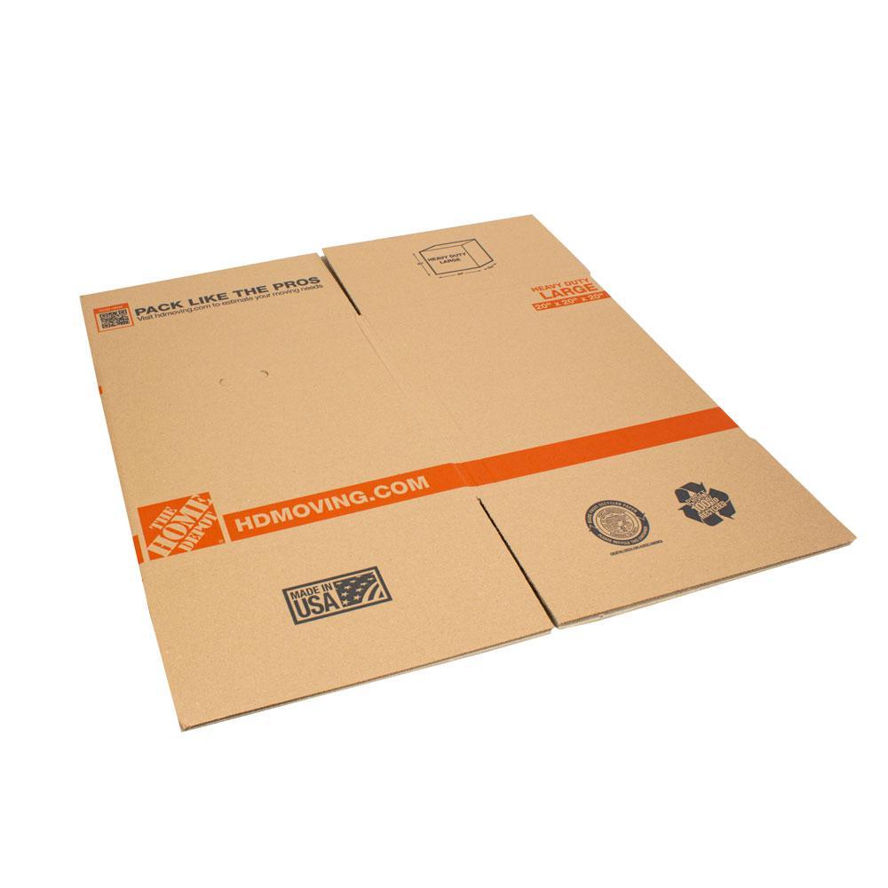 20 in. L x 20 in. W x 20 in. D Heavy-Duty Moving Box (10-Pack)