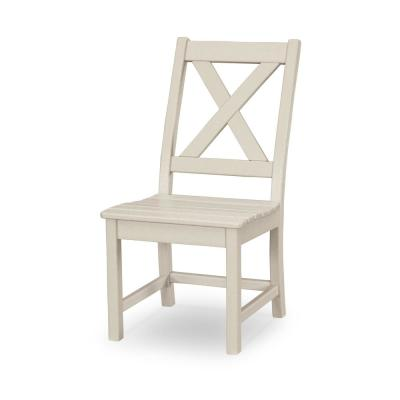 Braxton Sand Plastic Outdoor Patio Dining Side Chair