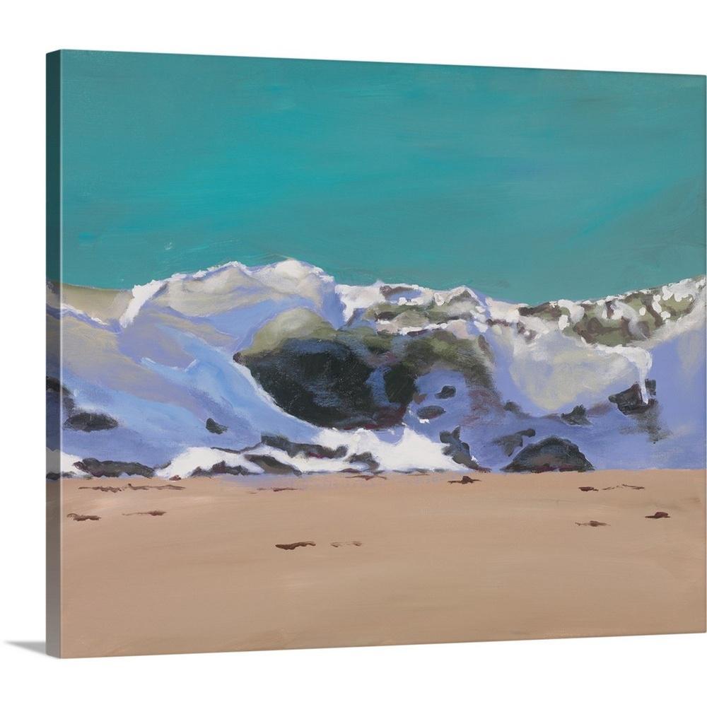 """Shore Break I"" by Stephen Newstedt Canvas Wall Art"
