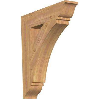 5.5 in. x 32 in. x 28 in. Western Red Cedar Thorton Traditional Smooth Bracket