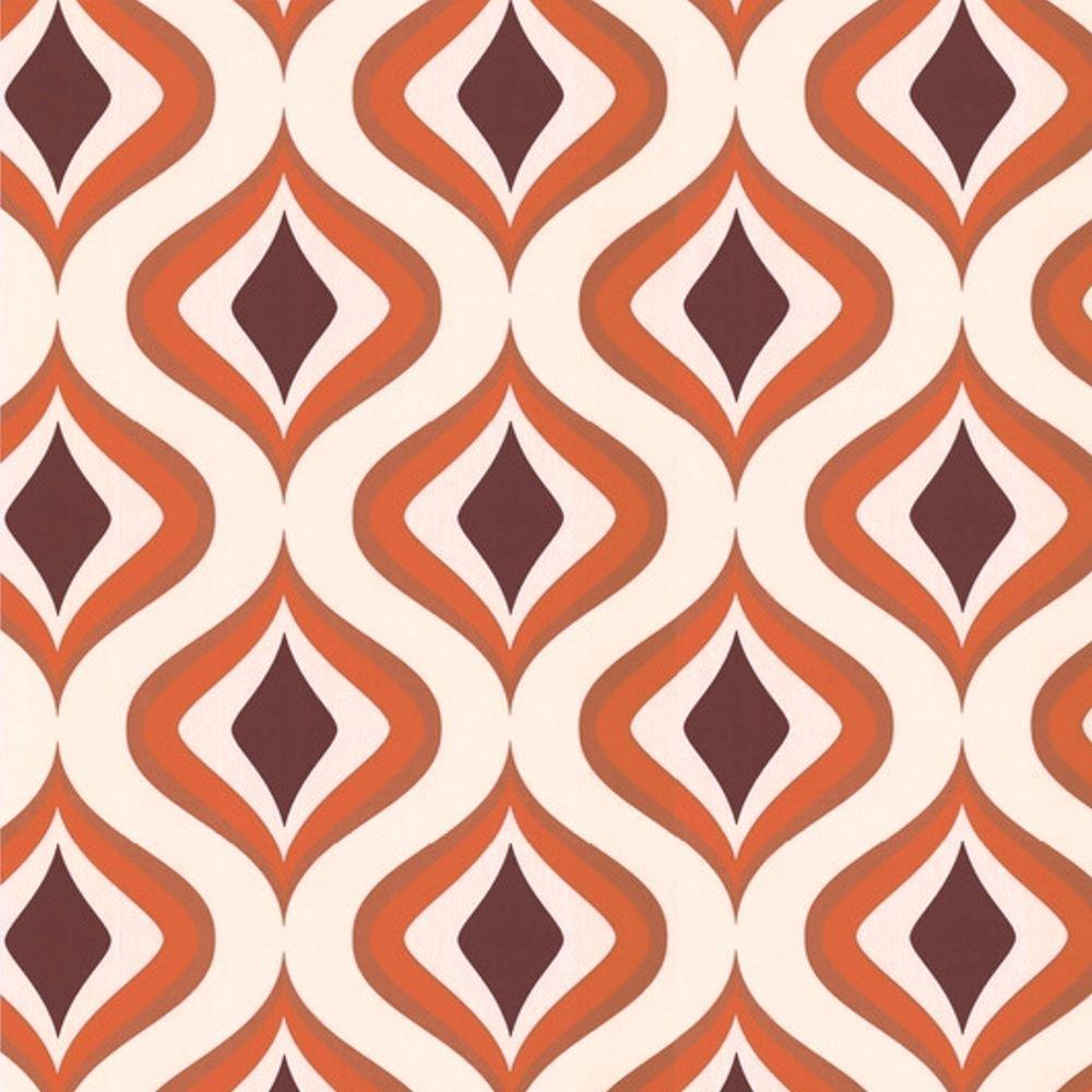 Graham & Brown Trippy Orange Removable Wallpaper