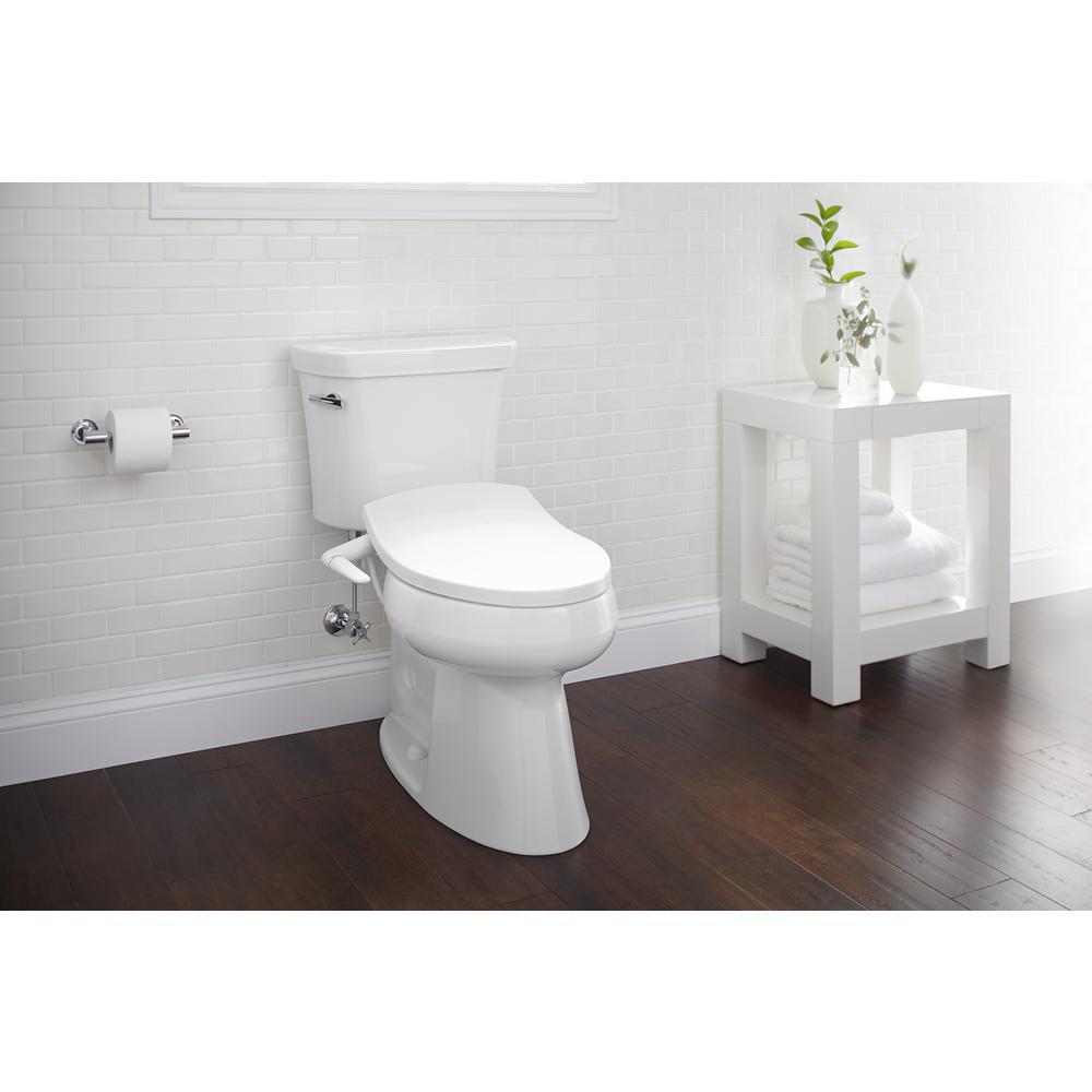 Stupendous Kohler Puretide Non Electric Bidet Seat For Elongated Toilets In White Machost Co Dining Chair Design Ideas Machostcouk