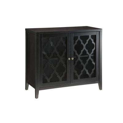 Ceara Black Console Table with 2 Doors