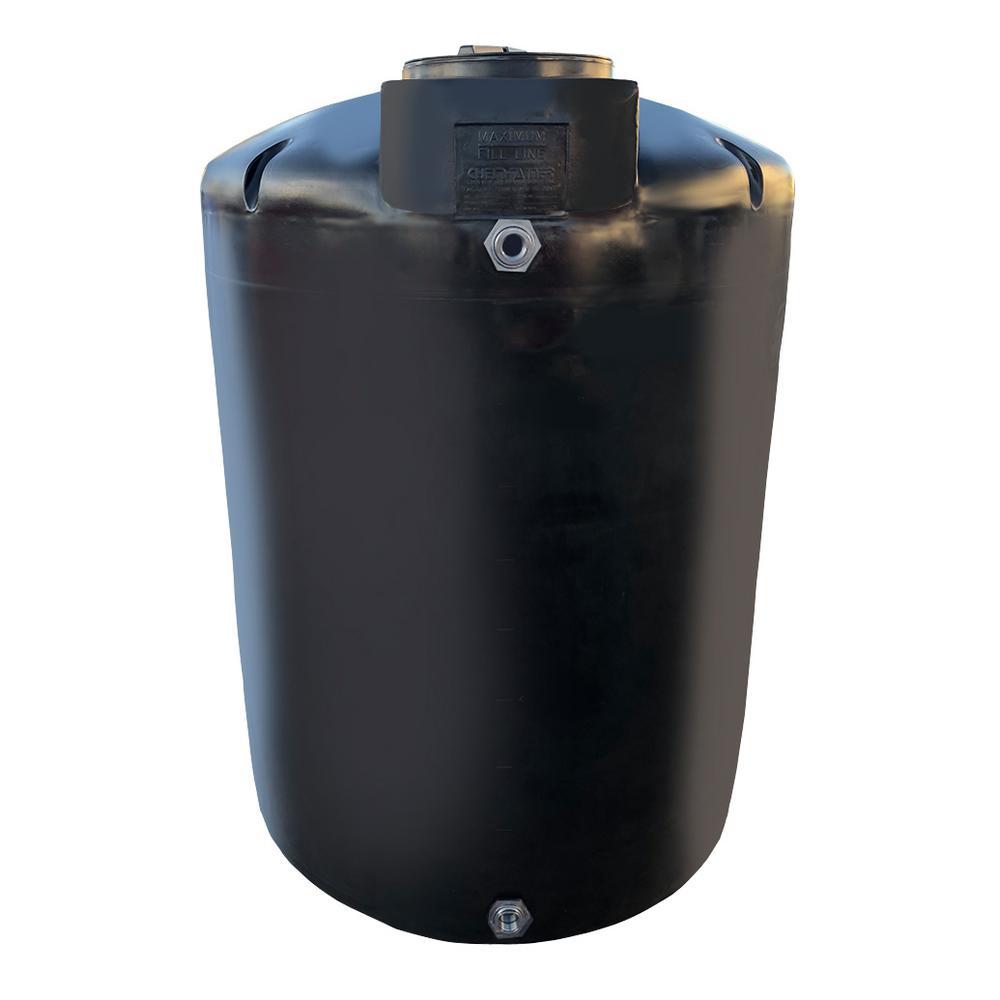 1500 Gal. Black Vertical Water Storage Tank