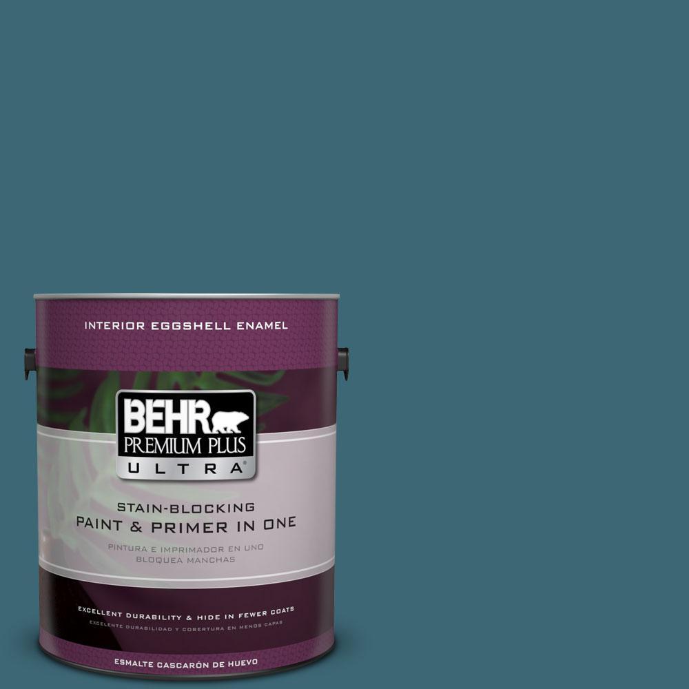BEHR Premium Plus Ultra 1-gal. #PMD-45 Teal Mosaic Eggshell Enamel Interior Paint