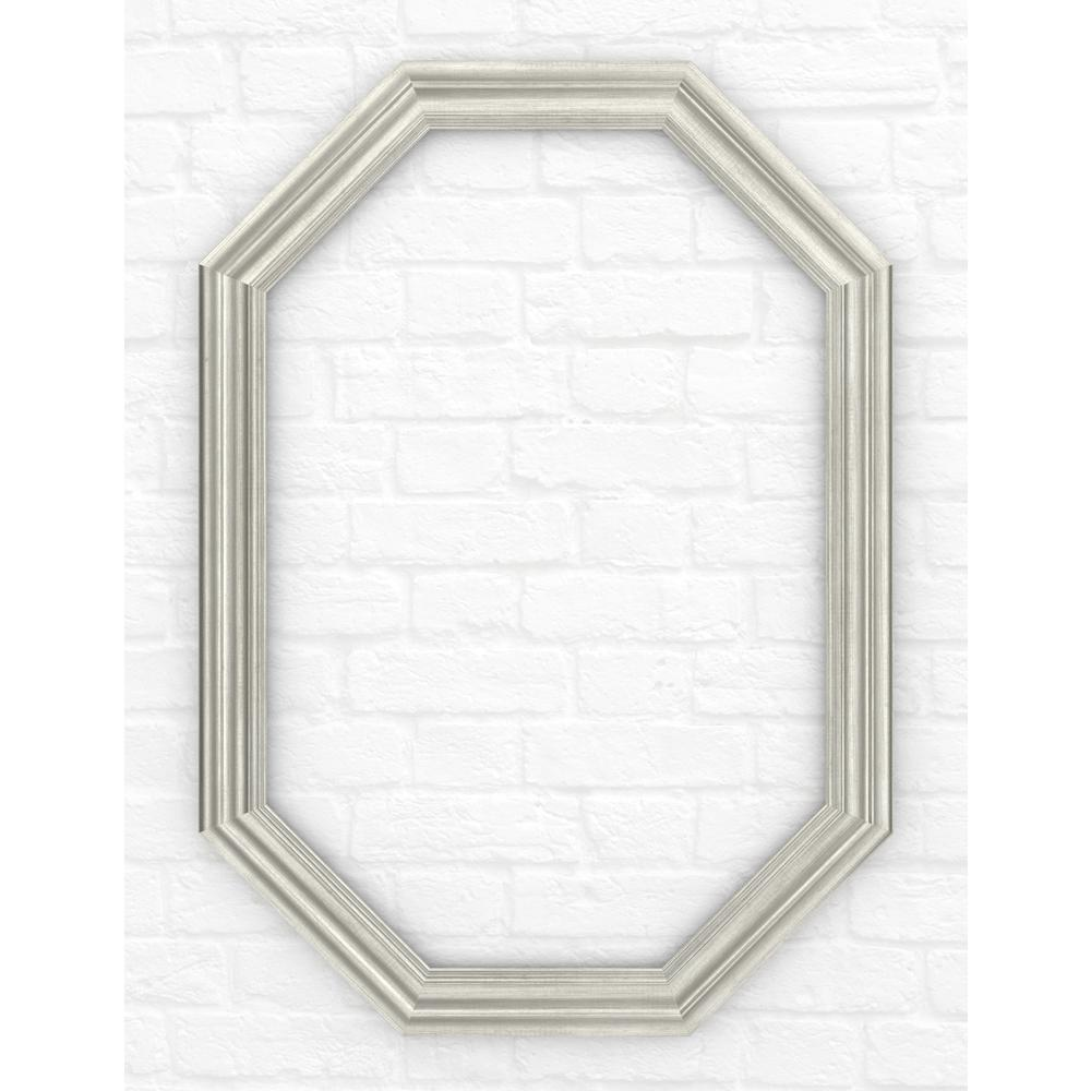 Delta 33 in. x 46 in. (L3) Octagonal Mirror Frame in Vintage Nickel