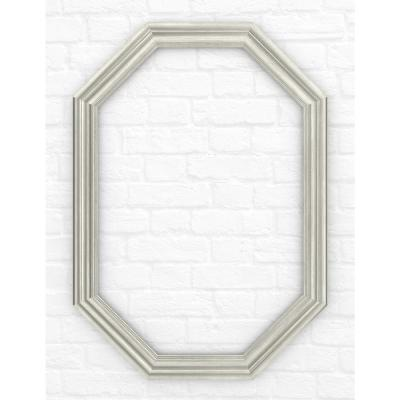 33 in. x 46 in. (L3) Octagonal Mirror Frame in Vintage Nickel